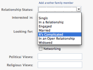 FB Relationships It's Complicated