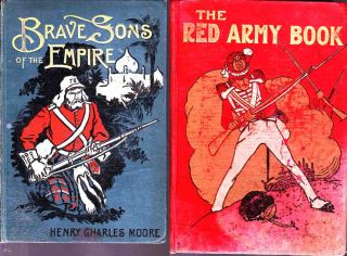 The covers of two books given to my Grandfather in New Zealand during the First World War. One is 'Brave Sons of the Empire' and the other 'The Red Army Book'. A deliberate challenge to a known pacifist perhaps?