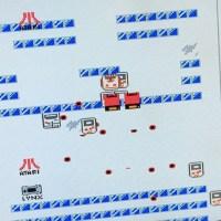 あふれるATARI愛!ファミコン版『絵描衛門(デザエモン)』で制作された、自機がリンクスのシューティングゲーム『LYNX  ATARI  FIGHT!』がスゴい
