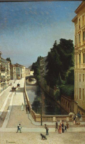 Il naviglio di via senato- Filippo Carcano,1885