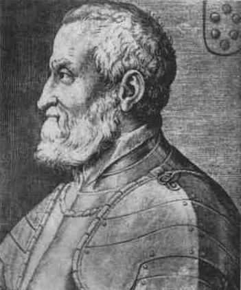 """Ritratto del Medeghino con il nuovo stemma """"prestato"""" dai Medici di Firenze"""