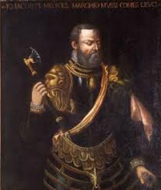 Il figlio di Bernardino, Gian Giacomo Medici detto il Medeghino, in arme.