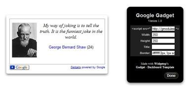 GoogleWidget