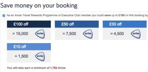 Avios Discounts