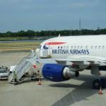 BA A318 at LCT