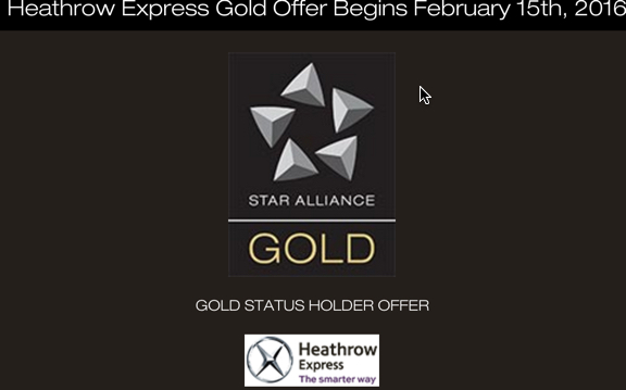 Free Heathrow Express upgrades for Star Alliance Golds - from 15 Feb