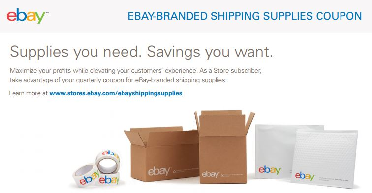 how to get free shipping supplies on ebay