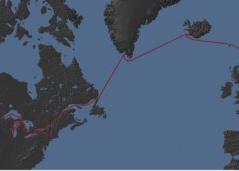 Viking ship route
