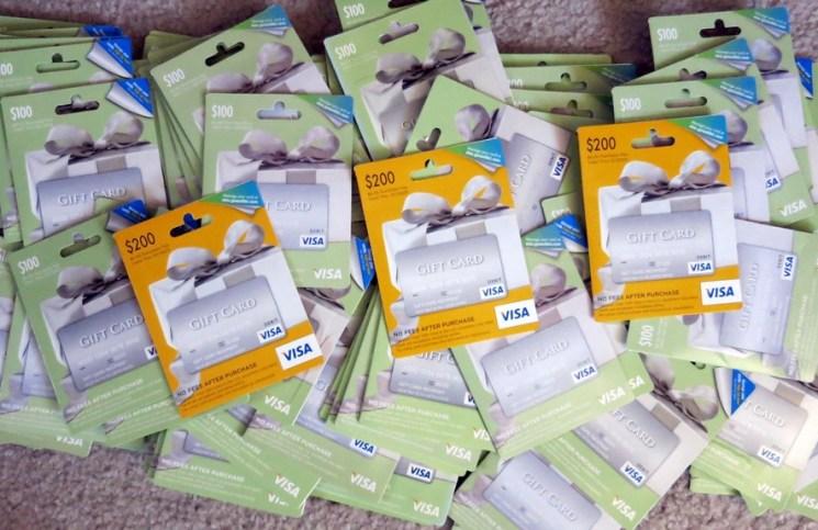 Visa gift cards staples