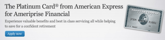 Platinum Card from American Express   Ameriprise Financial