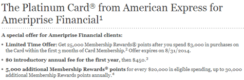 Platinum Card from American Express   Ameriprise Financial1