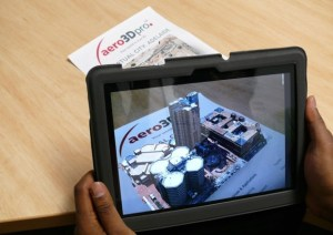 Figure 2 When viewed through the device camera, an AR app will recognize trigger images and will overlay digital data