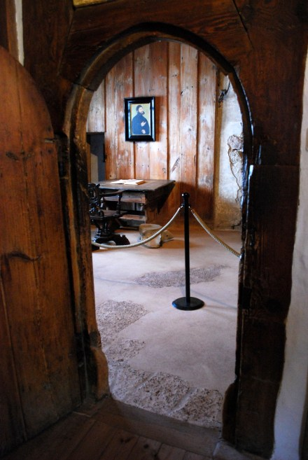 Wartburg, entrance to Luther's room.