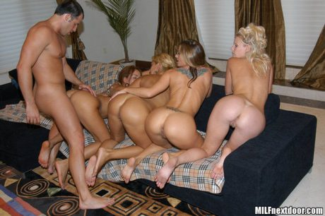 multiple naked bent over
