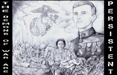 "Art Schade's first contribution to The Journal of Military Experience was entitled ""The Demons of War Are Persistent."" Read that work here. Accompanying sketchwork by Clayton D. Murwin."
