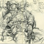 Victor C. Juhasz / Afghanistan Catching Some Sleep in Transit / The Journal of Military Experience, Vol. 3