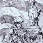Clayton Murwin / Sketch for Dear America / The Journal of Military Experience, Vol. 2