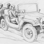 Clayton Murwin / Sketch for Engine Trouble / The Journal of Military Experience, Vol. 2
