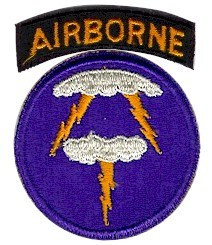 An arm patch for the U.S. 21st Airborne Division of World War Two. Never heard of that unit? That's because it didn't exist.