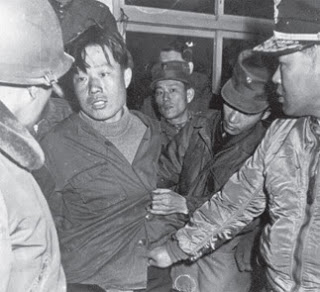 North Korean commando Kim Shin-Jo at the moment of his capture in 1968.