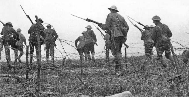 "That's Somme fake! These British infantrymen are no where near No Man's Land in this iconic First World War ""combat shot""."