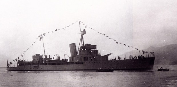 A Paraguayan Humaitá-class warship on a South American lake. Ships like this one fought in the 1932 Chaco War.