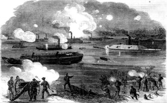 The Battle of Trent's Reach in January of 1865 was the last naval battle of the Civil War.