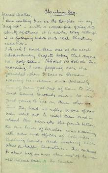 Letter From Front Recounts 1914 Christmas Truce