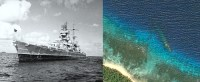 Germany's Prinz Eugen: Warrior of the Atlantic; ghost of the Pacific. (Image source WikiCommons/Google Earth)