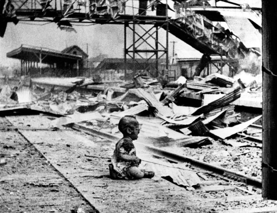 "To this day, no one knows the name of the ""Shanghai Baby"" or even if he survived the injuries sustained during the Aug. 28, 1937 Japanese raid on the city. (Image source: Public Domain)"
