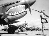 Flying Tigers' planes under guard in China. (Image source: WikiCommons)