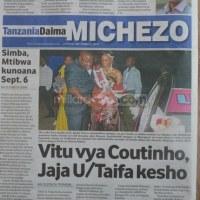 Na haya ndio makubwa yaliyoandikwa na Magazeti ya leo Sept 2 Tanzania