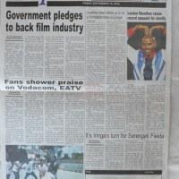 Kurasa za mwanzo na mwisho magazetini leo September 19 2014