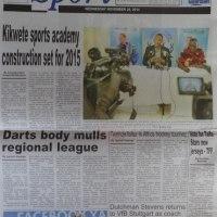 Kurasa za mwanzo na mwisho magazetini leo November 26 2014
