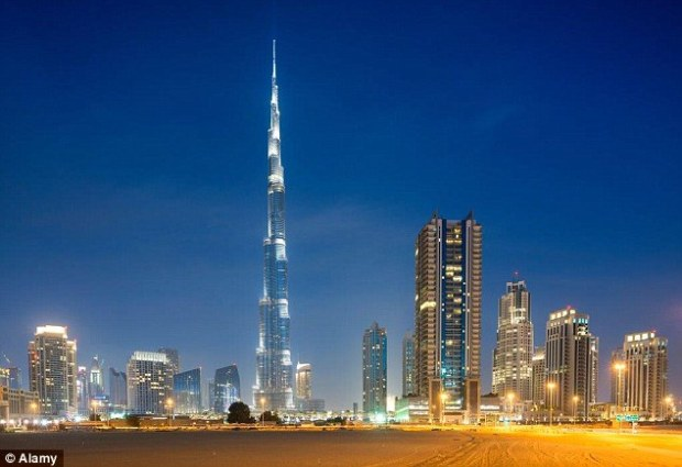 The Burj Khlaifa stands proud dominating the Dubai skyline, and is officially the tallest structure in the world - it came 19th in the list of world's most expensive buildings