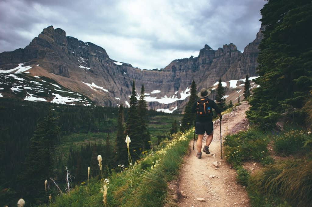 hiking, glacier, national parks