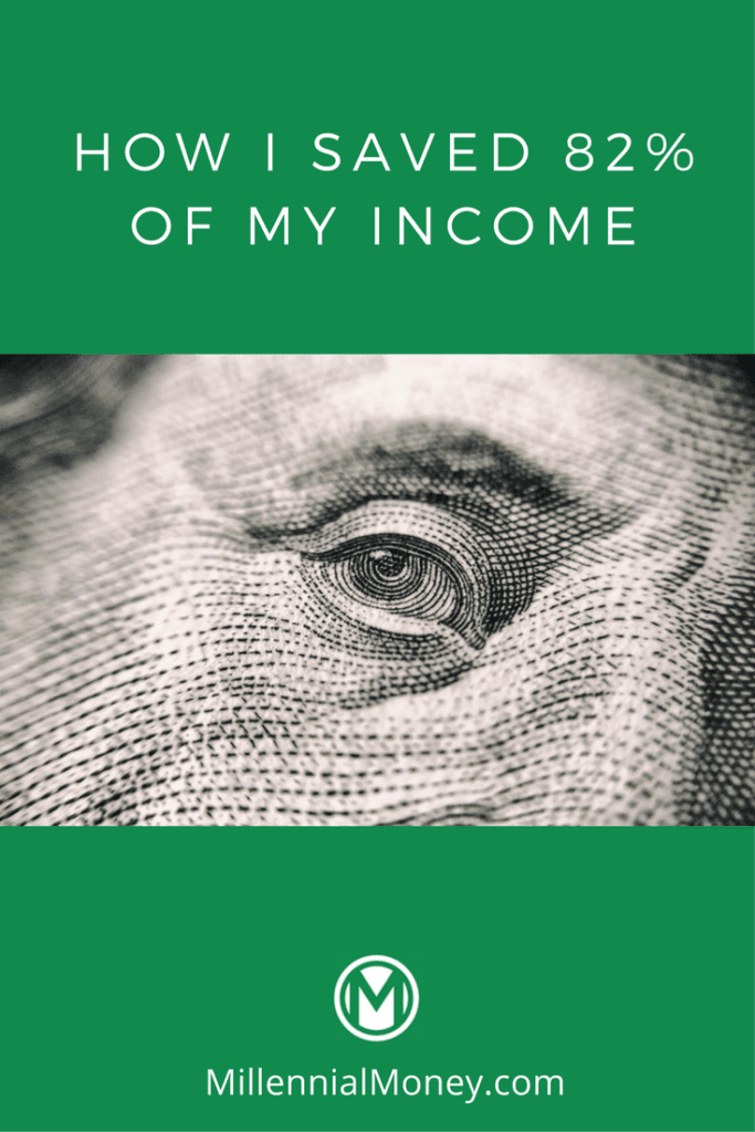 how i saved 82 percent of income