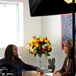 MichaelBB & Wendy on set