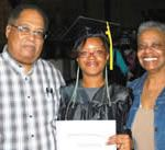 SDC GED graduates are congratulated by family members on their achievement at May 2012 ceremonies.