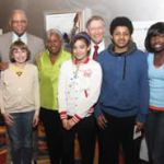 "Baseball Commissioner and Robinson's daughter host a viewing of ""42"" for area students"