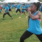 UNCF Walk/run participants stretching