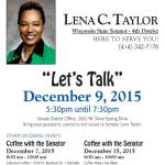 """Let's Talk"" – Coffee with Senator Lena Taylor"