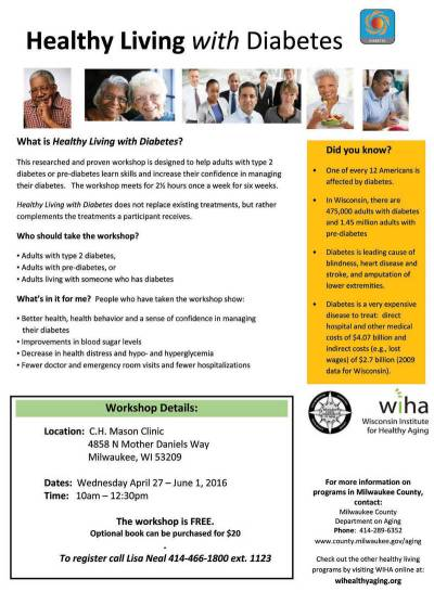 Healthy Living With Diabetes Free Workshop | Milwaukee ...