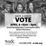 Vote April 8th for Social Development Commission (SDC) Board