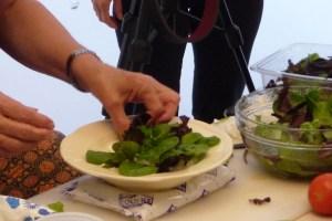 building a salad