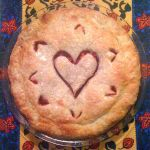 pie with heart