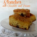 Tangerine Blondies with Chocolate and Pecans