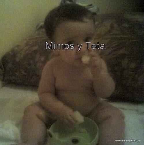 8 meses-Comiendo calabacín