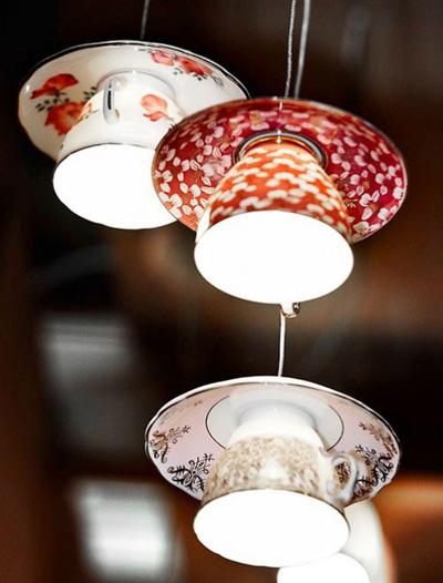 Lámpara de cocina vista en Tiny white Dasies