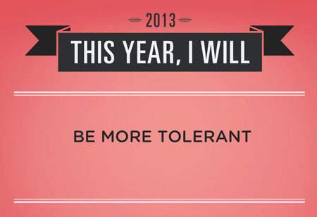 Ser más tolerante